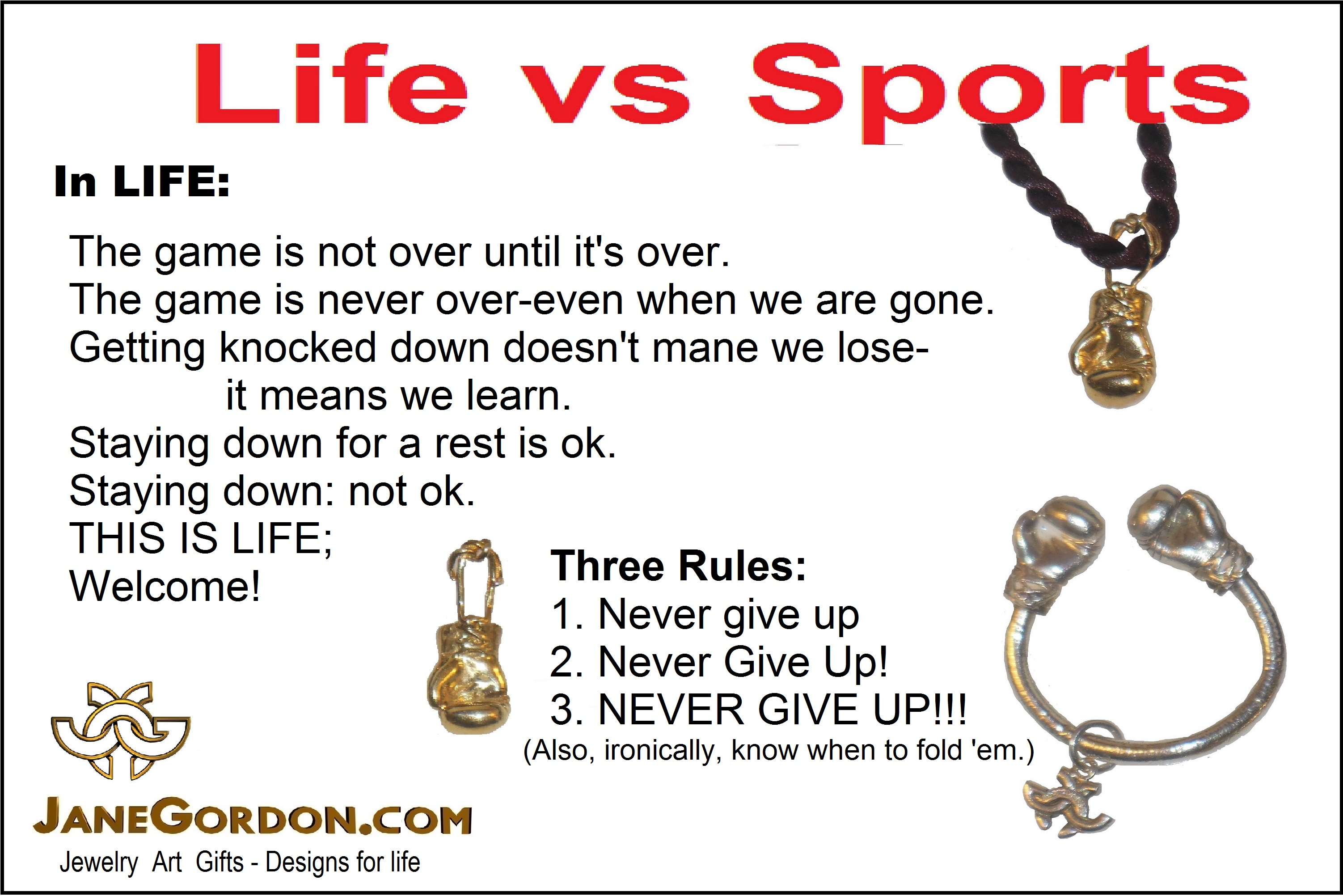 Love vs. Sports- Boxing and life- Jane Gordon jewelry