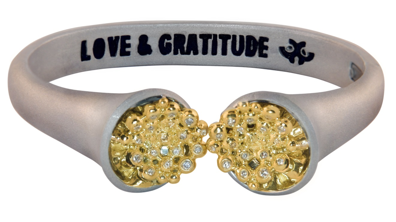 Love and Gratitude Bracelet: Jane Gordon Jewelry. Look for the best in everyone and every situation.  Savor our blessings. Give someone a smile today.  Care for yourself while saving the world, one person at a time.