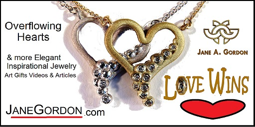 Overflowing Heart Necklace: Love Wins